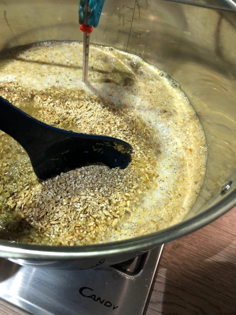 Mashing in stir